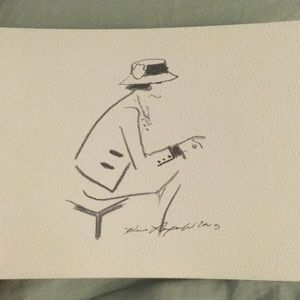Chanel Karl Lagerfeld sketch note card pre owned